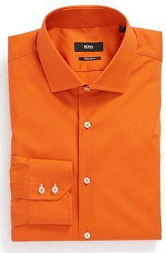 #HUGO BOSS #Tops #BOSS #HUGO #BOSS #Regular #Dress #Shirt #Orange BOSS HUGO BOSS Regular Fit Dress Shirt Orange 15 http://www.snaproduct.com/product.aspx?PID=5294829