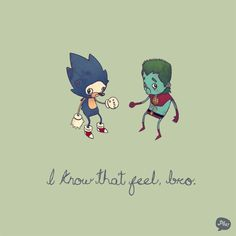 Sonic the Hedgehog and Captain Planet...dependent on rings.