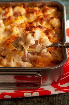 Blumenkohl-Kartoffel-Auflauf - Schnelles Rezept für den Feierabend Nutrition Program, Quick Recipes, Eating Habits, Macaroni And Cheese, Food Porn, Veggies, Food And Drink, Low Carb, Lunch