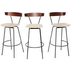 Set of 3 Clifford Pascoe Bar Stools 1