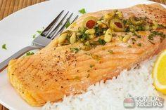 Receita de Salmão assado em receitas de peixes, veja essa e outras receitas aqui!