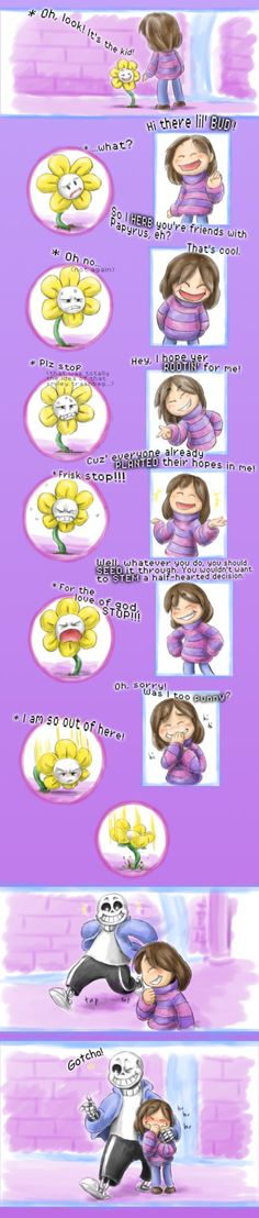 Flowey and Frisk - Too punny for you by the-Adventurer-0815 on DeviantArt