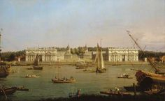 """""""Greenwich Hospital from the North Bank of the Thames"""" by Canaletto, c. 1752, National Maritime Museum"""