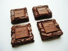 Ghirardelli Almond Brownies #brownie #almond #dessert #sweet #snack #recipe #recipes