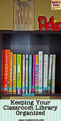 Runde's Room: Finally a way to keep the Genre books straight!  Washi tape on the spines with a matching piece on the shelf label.  Oh...it's the little things in life that really make me happy!