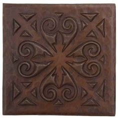 Shop now for Top Quality copper kitchen sinks, copper bath sinks, copper bar sinks & copper tile. Your custom copper sink sold direct to you. Start shopping now! Glass Painting Designs, Paint Designs, Backsplash With Dark Cabinets, Backsplash Ideas, Kitchen Backsplash, Copper Bath, Copper Sinks, Copper Kitchen Accents, Metal Ceiling Tiles