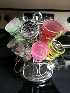 I used my Keurig K-cup holder to hold shot glasses for parties!