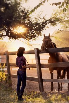 It's a Good Morning - horse & woman photography with great lighting