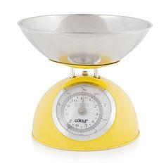 Báscula de cocina Dome 5 kg de Cook In Colour, amarillo. También en rojo,verde,morado y naranja