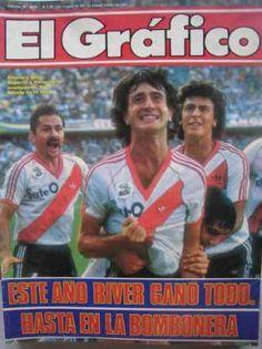 El Grafico  River Campeon 86 Alonso Pelota Naranja Sports Magazine, Alonso, Football Players, Soccer, Passion, Carp, Tapas, Thankful, Amor