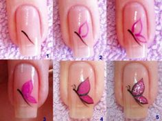 Nail art designs and ideas for different types of nails like, long nails, short nails, and medium nails. Check out more all Nail art designs here. Cute Nail Art, Nail Art Diy, Easy Nail Art, Beautiful Nail Art, Diy Nails, Cute Nails, Pretty Nails, Diy Manicure, Nail Polish Designs