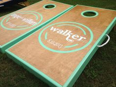Wedding Cornhole Board Set on Etsy, $215.00