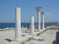 """The ancient city of Chersonesos in Crimea Chersonesos. The ancient city is located on the shore of the Black Sea at the outskirts of Sevastopol in Crimea, where it is referred to as Khersones. It has been nicknamed the """"Ukrainian Pompeii"""" and """"Russian Troy"""". The name """"Chersonesos"""" in Greek means simply """"peninsula"""", and aptly describes the site on which the colony was established."""
