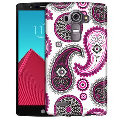 LG G4 Paisley Pink Black on White Slim Case