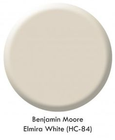 One of my favorite paint colors (and I have many!) is Benjamin Moore Elmira White (HC-84). A fabulous neutral with a bit of gray looks gorge...