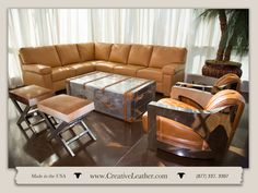 For three decades, Creative Leather has been committed to handcrafting the finest quality custom leather furniture in the Southwest. Leather Furniture, Custom Furniture, Leather Sectional, Custom Leather, Chair And Ottoman, Pitch, Contemporary, Modern, Love Seat