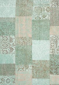 patchwork tapijt trinity creations patchwork washed turquoise