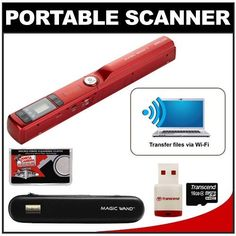VuPoint Magic Wand II Portable Photo & Document Scanner with Wi-Fi (Red) with 16GB Card + Carrying Case + Accessory Kit by VUPOINT. $104.95. Kit includes:♦ 1) VuPoint Magic Wand II Portable Photo & Document Scanner with Wi-Fi (Red)♦ 2) VuPoint Carrying Case for VuPoint Magic Wand Portable Scanner♦ 3) Transcend 16GB microSDHC Class 4 Card with Card Reader♦ 4) Microfiber Cleaning ClothThe VuPoint Magic Wand II Portable Photo & Document Scanner provides a fast and easy...