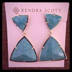 kendra scott jewelry ads | New Kendra Scott Maury Turquoise Gold Earrings Brand new in packaging ...