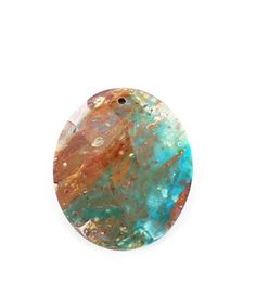 PERUVIAN OPAL FACETED OVAL BEAD 50x40mm