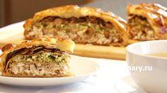 Курник – исконно русский пирог круглой формы из слоеного теста с разными…