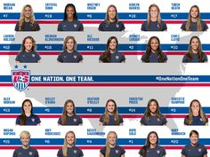 The roster is set! 20 players named for Women's World Cup Qualifying in KC, Chicago, DC and Philly. Usa Soccer Team, Female Soccer Players, Us Soccer, Soccer Cleats, Football Soccer, Soccer Stuff, Soccer Theme, International Soccer, Soccer Inspiration