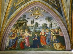 Pinturicchio. Descent of the Holy Spirit. fresco, Borgia Apartments, Hall of the Mysteries of the Faith, Vatican, 1492-94