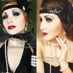 Recreated Lex's (MadeULook By Lex) NYX Face Awards 1920's makeup look! Her photo is on the left. (I, in no way own any rights to her photo at all. It is watermarked with her name. All credits go to Alexys Fleming a.k.a MadeULook) My photo is on the right. You can find me on Facebook and Instagram  at: ashleythebeautyqueen