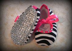 Infant Zebra Sparkle Shoes