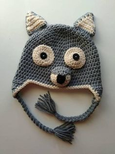 Crochet Wolf Hat Crochet Beanies Kid Hat Toddler Hat