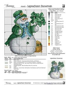 March Snowman cross stitch ~d~3