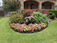 Flower bed ideas for full sun pictures beautiful black for Flower landscaping ideas for front yards