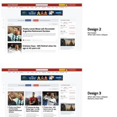 Sports social network - Home page design by Manjada