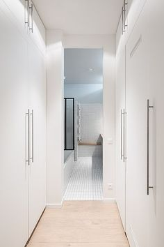 Sleek bathroom in a 900-square-foot Parisian loft