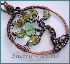 Tree Of Life Sparkling Glass Birthstone colors - Peridot for August | SherrysJewels - Jewelry on ArtFire $35