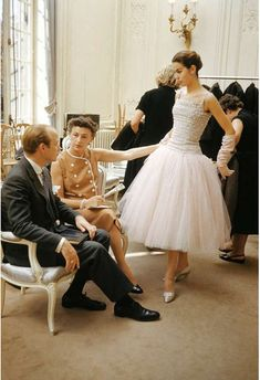 House of Dior-Model with Buyers-Color, 1953