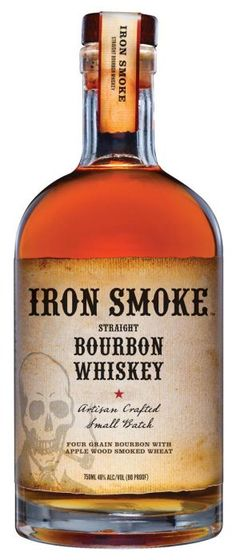 Iron Smoke Apple Wood Smoked Straight Bourbon Whiskey - Iron Smoke Straight Bourbon Whiskey won Double Gold at 2017 North American Bourbon & Whiskey Compet - Bourbon Whiskey, Smoked Whiskey, Whiskey Drinks, Cigars And Whiskey, Scotch Whiskey, Whiskey Bottle, Apple Bourbon, Whiskey Distillery, Whiskey Decanter