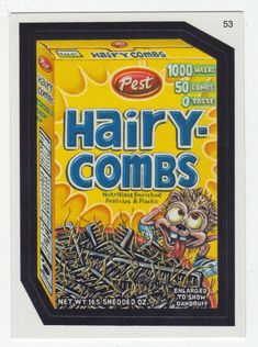 Wacky Packages All-New Series 2 # 53 Pest Hairy-Combs - Topps - 2005