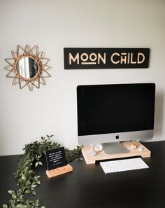 Moon child wood wall sign | Etsy by Jake and Erica