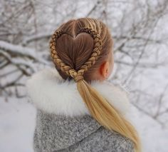Heart Braid Little girls have a way of melting hearts, especially with cute haircuts! Check out these totally adorable little girl hairstyles & get ready to 'awww! Braided Hairstyles For Teens, Cute Little Girl Hairstyles, Little Girl Braids, Teen Hairstyles, Box Braids Hairstyles, Braids For Little Girls, Heart Hairstyles, Crazy Hairstyles, Casual Hairstyles