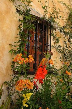 Old California and Spanish Revival Style- Marfa window Spanish Revival, Spanish Style, Spanish Colonial, Old Windows, Windows And Doors, Porches, Portal, Hacienda Style, Window View