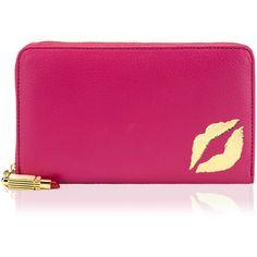 b9ef9d025cc3 Pink Leather Lip Wallet Lulu Guinness