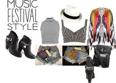 """""""Music Festival Style Outfit"""" by tammyw-483 on Polyvore"""