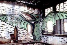 David Wojnarowicz's graffiti on the piers by Marion Scemama