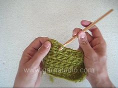DROPS Crochet Tutorial: How to work reverse crochet