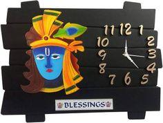 Krishna art Wall Clock Flipkart SmartBuy Analog 29 cm X 35 cm (Black, Without Glass) – Office Room Numeral Numbers, Glass Office, Krishna Art, Online Shopping Sites, Home Decor Kitchen, Wall Colors, Plastic Case, Clock, Wall Art
