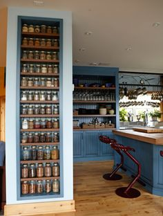 michael smith's spice library, nice way to have them out in the open and accessible