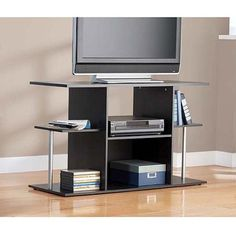 "Mainstays Black TV Stand for TVs up to 42"" - Walmart.com"