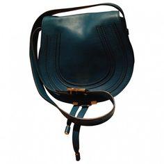 CHLOE MARCIE CROSSBODY LAGUNA B CHLOÉ ($830) ❤ liked on Polyvore featuring bags, handbags, shoulder bags, leather crossbody, blue leather handbags, leather shoulder bag, leather handbags and leather purses