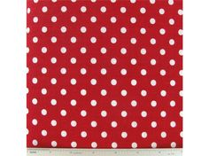 CCW5-14- Piney Woods White Dots on Red Fabric